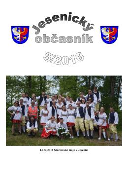 Číslo 05/2016 - Město Jesenice