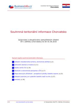 Souhrnná teritoriální informace Chorvatsko
