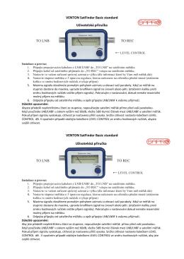 VENTON SatFinder Basic standard Uživatelská příručka TO
