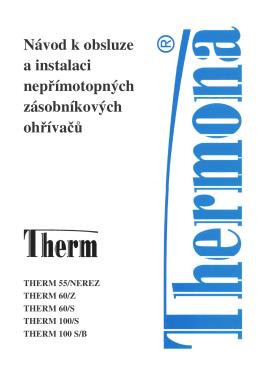 therm 55/z, 60/z, 60/s, 100/s, 100 s/b