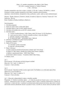 Zápis za zasedání ZO - 20.5.2016
