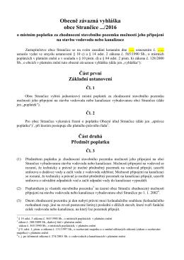 Návrh OZV o poplatku za zhodnocení pozemků
