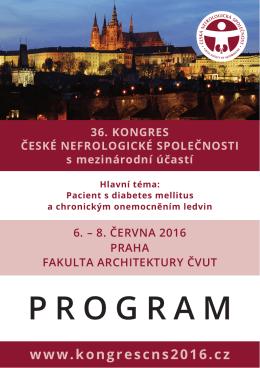 program Kongresu - Kongres ČNS 2016