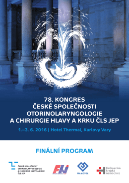 Finální program - 78. kongres České společnosti