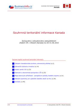Souhrnná teritoriální informace Kanada