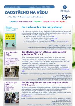 Newsletter AV ČR 16-07 - Akademie věd České republiky