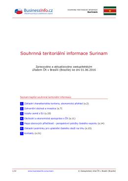 Souhrnná teritoriální informace Surinam