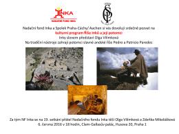 kulturní program Říše Inků a její potomci