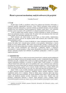 Řízení a procesní mechanismy malých softwarových projektů