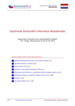 Souhrnná teritoriální informace Nizozemsko