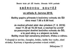 Sběr - ZŠ Ohrada