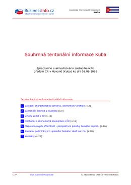 Souhrnná teritoriální informace Kuba