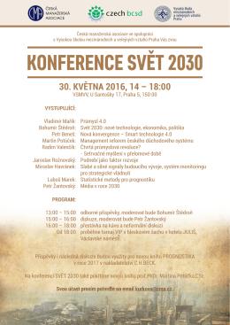 Konference SVeT 2030