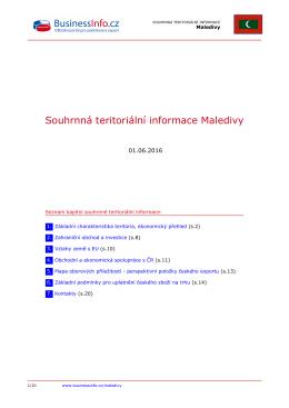 Souhrnná teritoriální informace Maledivy