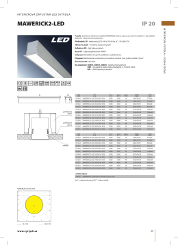 mawerick2-led ip 20