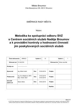 Směrnice rady města č. 23