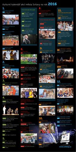 Kulturní kalendář akcí města Svitavy na rok 2016