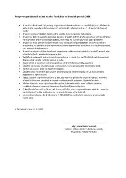 Pokyny organizátorů k účasti na akci Pardubice na bruslích pro rok