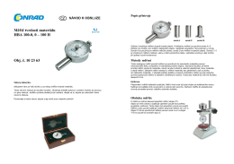 Měřič tvrdosti materiálu HBA 100-0, 0