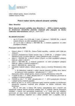 Právní rozbor návrhu OZV
