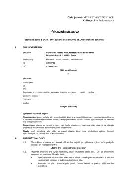 příkazní smlouva - Úřad městské části Brno