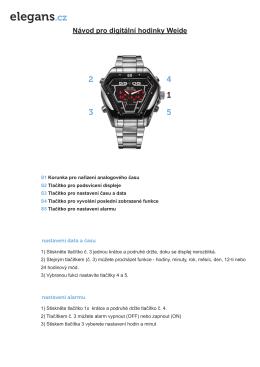 Stáhněte si manuál k hodinkám Weide zde