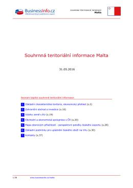 Souhrnná teritoriální informace Malta