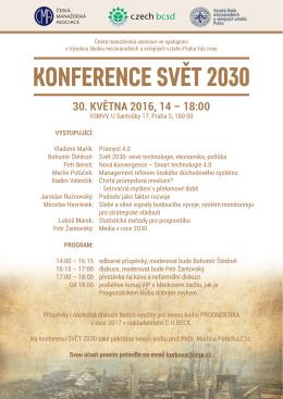 Konference SVeT 2030 - Česká manažerská asociace