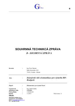 souhrnná tech. zpráva