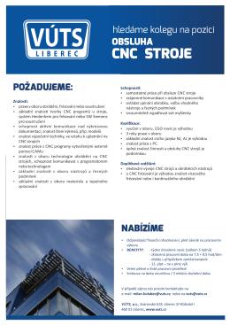Obsluha CNC stroje
