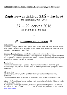 zapis1617 - Základní umělecká škola Tachov