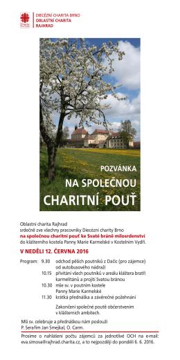 charitní pouť - Diecézní charita Brno