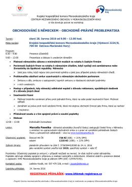 Pozvánka - Krajská hospodářská komora Moravskoslezského kraje