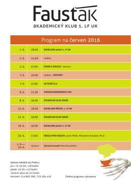 Program na červen 2016