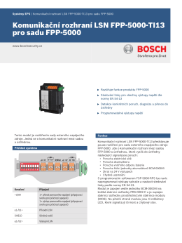 Komunikační rozhraní LSN FPP-5000-TI13 pro sadu FPP-5000