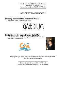 koncert dvou sborů - gaudium