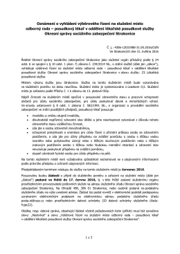Oznámení - Česká správa sociálního zabezpečení