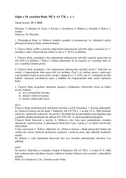 29. 3. 2010  - Masarykův ústav a Archiv AV ČR, v. v. i.