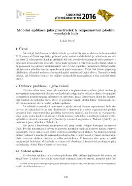 Mobilní aplikace jako prostředek k rozpoznávání plodnic vysokých hub