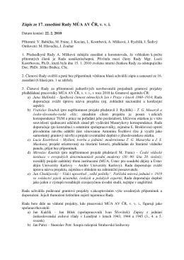 22. 2. 2010  - Masarykův ústav a Archiv AV ČR, v. v. i.