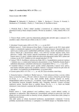 28. 5. 2013  - Masarykův ústav a Archiv AV ČR, v. v. i.