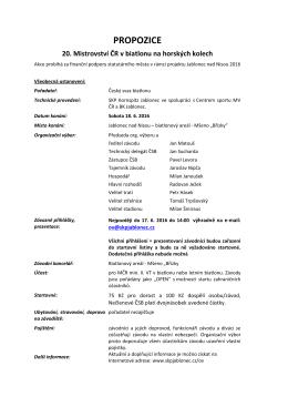 propozice - Český Biatlon