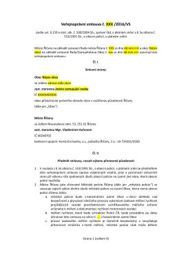 Vzor veřejnoprávní smlouvy na úsekové měření