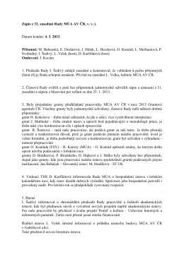 4. 3. 2013  - Masarykův ústav a Archiv AV ČR, v. v. i.