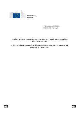 EVROPSKÁ KOMISE V Bruselu dne 31.5.2016 COM(2016) 353 final