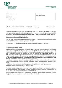 Zahájení správního řízení SR/0383/JS/2016