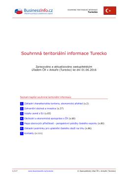 Souhrnná teritoriální informace Turecko