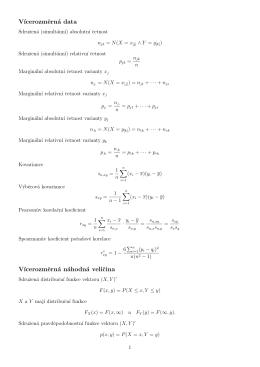 Vícerozměrná data, vícerozměrná náhodná veličina