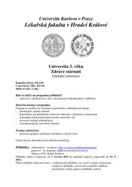 Lékařská fakulta v Hradci Králové - Lékařská fakulta UK v Hradci