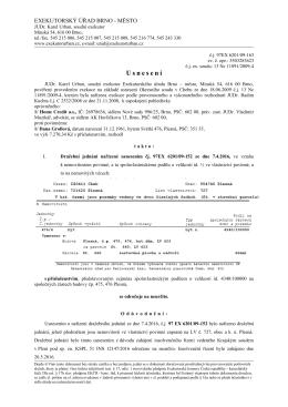 Dražební vyhláška - 183c, ExeÚ Brno-město